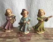 Three Vintage Chalkware A...