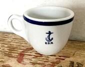 US Navy Anchor Demitasse ...