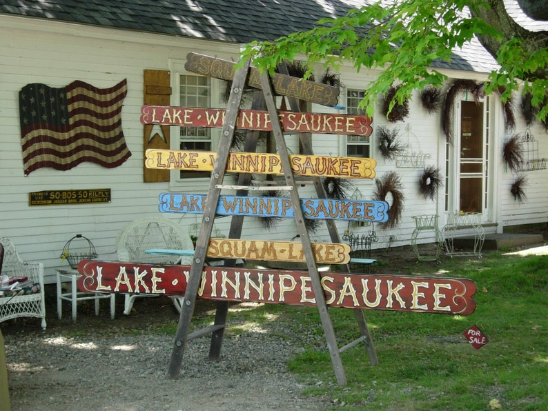 6 foot Lake Winnipesaukee 170 dollars multi layered painted in New England