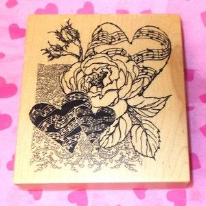 Heart /& Romance Montage Psx K-3117 Wooden Rubber Stamp