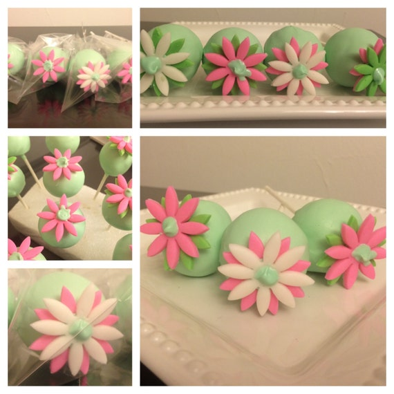 Bouquet of Flowers Cake Pops