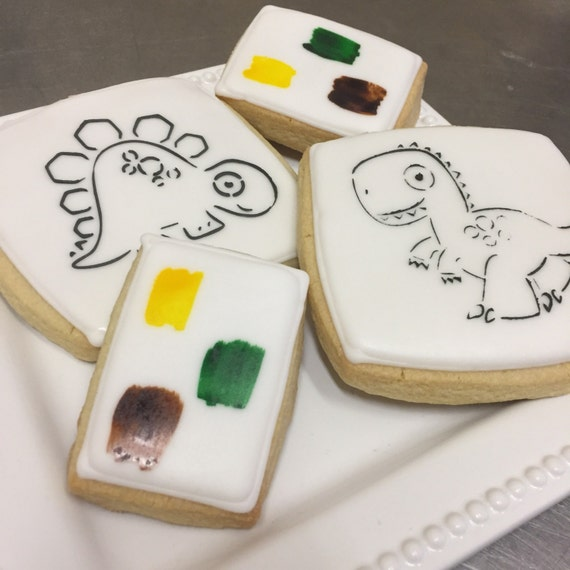 Dinosaur Paint Cookies