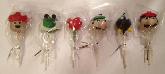 Super Mario Brothers Cake Pops