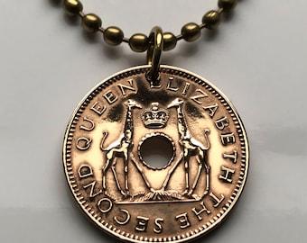 1990 Great Zimbabwe Rhodesia Cent stone carved bird Harare coin pendant Shona Ndebele Bantu Lemba Gweru Kwekwe Kadoma Chewa n002263