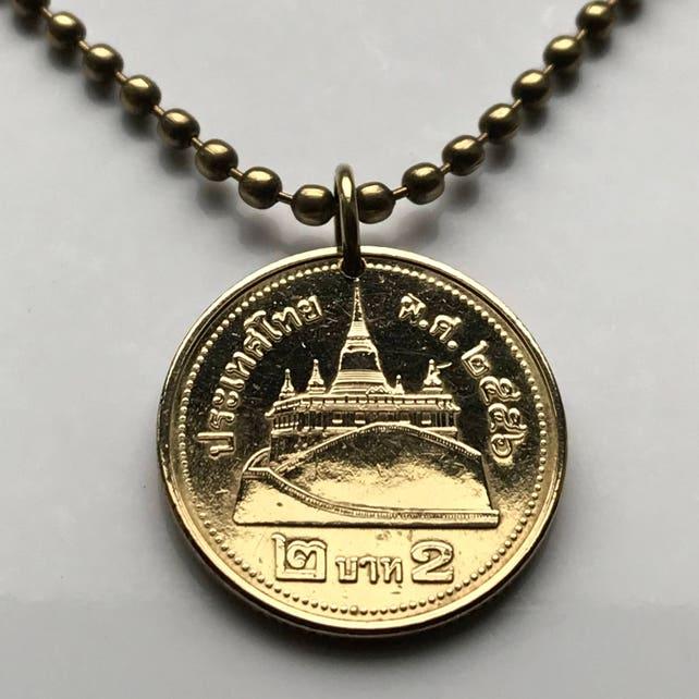 2013 Thailand 2 Baht Münze Anhänger Thai Siam Saket Tempel Etsy