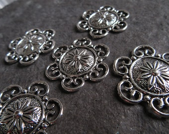 Jewellery-Making & Beadwork Kits A0415 20 pieces Tibetan Silver Style Alloy Connector Joiner Beads & Beadwork