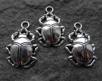 Lead /& Nickel Free Metal Charms Pendants Beads 10 Pcs Tibetan Silver Ladybird Beetle Insect 17X14mm Charms Pendants Beads