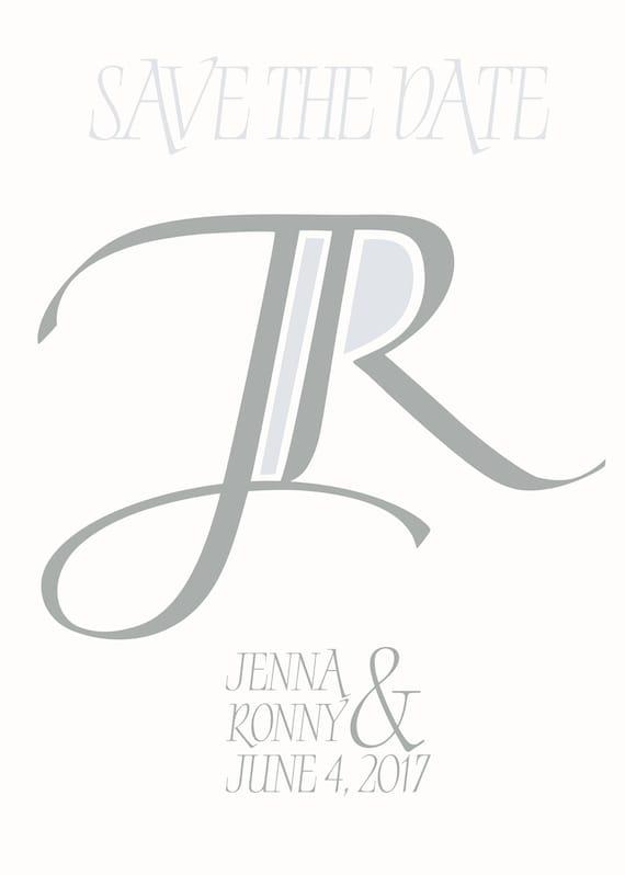 custom initial monogram initals logo design 2 letter monogram etsy