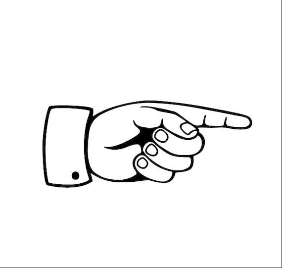 Digital Clipart Pointing Hand Pointing Finger Symbol Vector Etsy