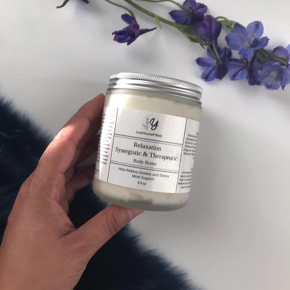 RELAXATION - Synergistic & Therapeutic - Body Butter - Raw - body butter |  lavender | magical organic green beauty | body cream - Wax Free