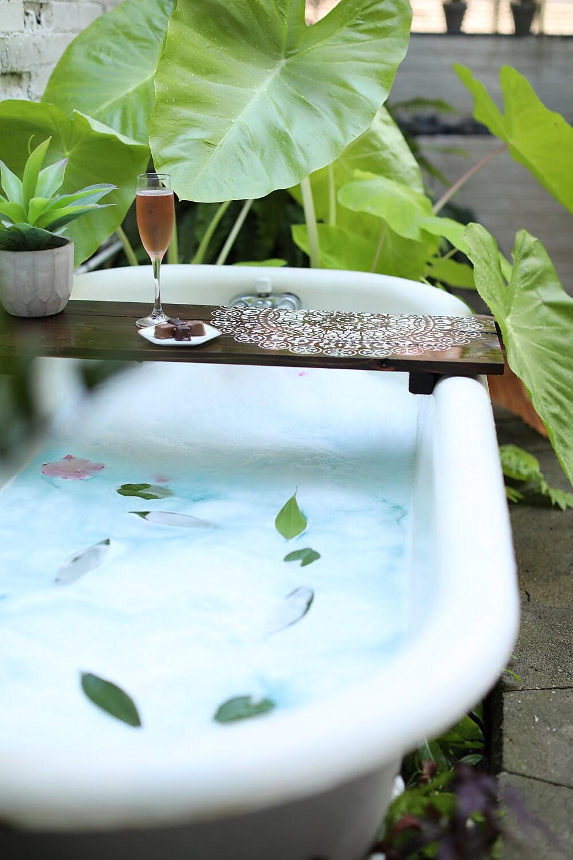 MANDALA CADDY Customized Bath Caddy Bath Tub Tray Tub   Etsy