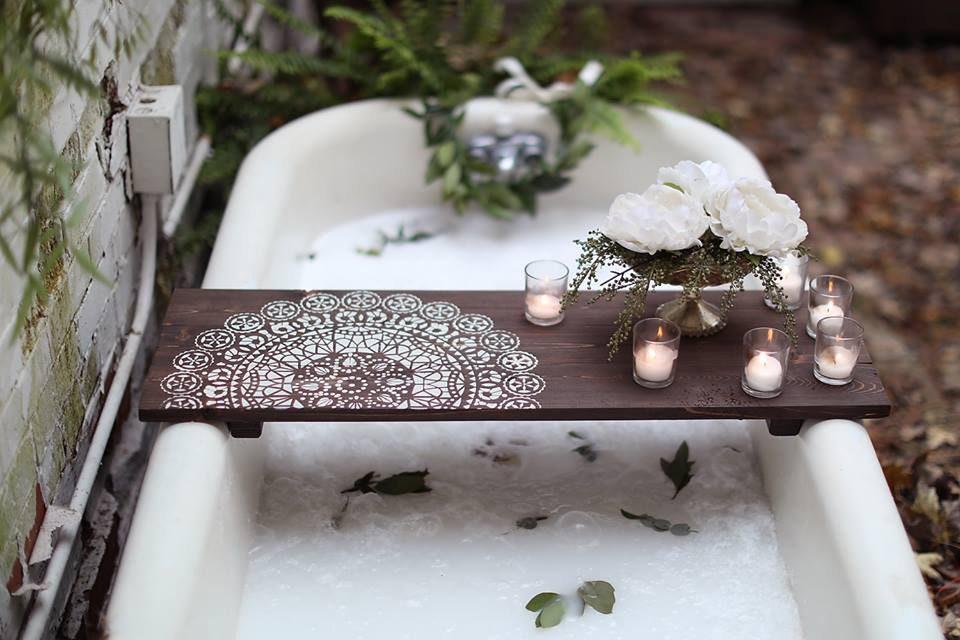 MANDALA BATH CADDY | Standard up to 32 inches | Customized Bath ...