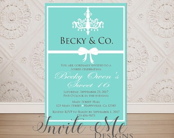 Tiffany Theme Invite Etsy