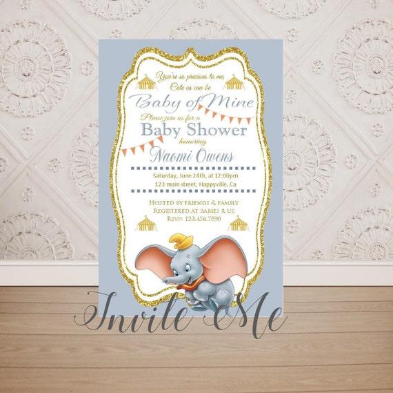 Dumbo Baby Shower Invitation Dumbo InvitationBaby Dumbo | Etsy