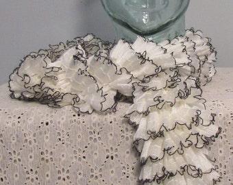White ruffle scarf