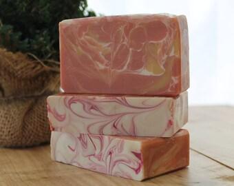 Mango Papaya Handmade Soap, Cold Process Soap, Gift Idea