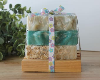Herbal Nature Handmade Soap Stack, Gift Set, Cold Process Soap, Gift Idea