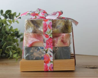 Family Ties Handmade Soap Stack, Gift Set, Cold Process Soap, Gift Idea