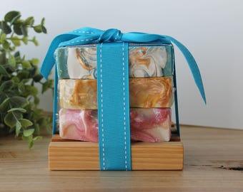 Island Getaway Handmade Soap Stack, Gift Set, Cold Process Soap, Gift Set