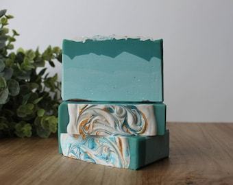 Day at the Beach Handmade Soap, Cold Process Soap, Gift Idea