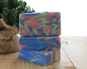 Apricot Freesia Handmade Soap, Cold Process Soap, Gift Idea