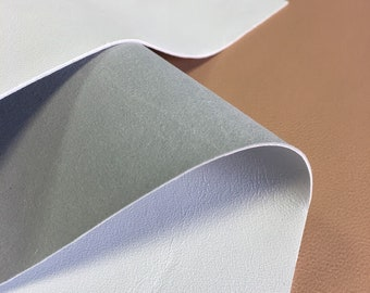Snow WHITE Soft Genuine Leather sheets 8x10in//20x25 cm 2 oz//.8mm 657 PURE WHITE