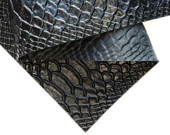 Snake Print 12x12in30x30cm Sheet  Genuine Lambskin Leather Pieces  Snake Textured Scraps  Shiny DIY  Cream Snake 965 1.2 mm  3 oz
