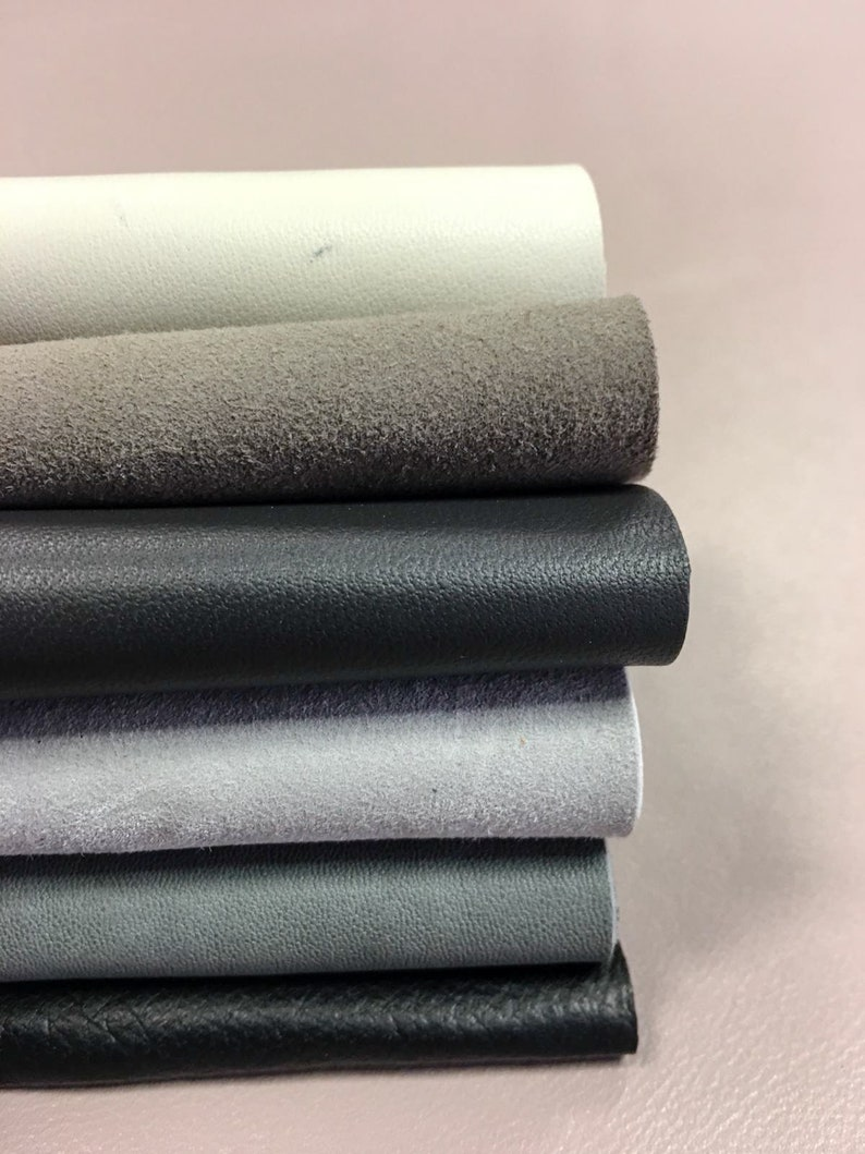 leather offcuts 1.2 Mixed dark grey