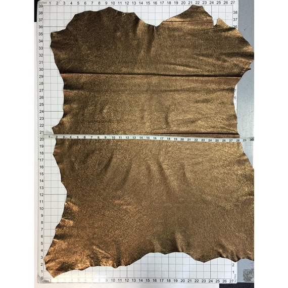 1.75oz BRONZE metallic leather crafts Dark Gold sheep sheets CRUNCHY BRONZE 785