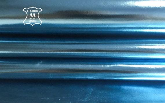 2 oz FUCHSIA Metallic REAL Sheep Leather Purple Glossy Quality skin Hides 700