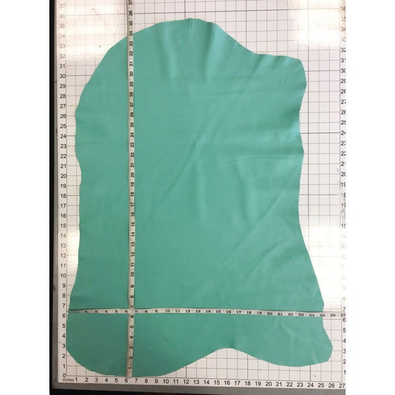 MINT leather Bright green sheep sheets for sewing Green hide MINT GREEN 645,2oz