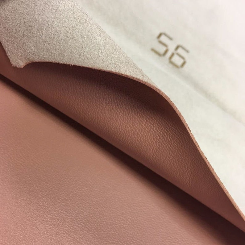 2 oz Natural Leather pieces Leather fabric for crafting BROWN leather fabric Genuine Sheep skin sheets for sewing MOCHA MOUSSE 691