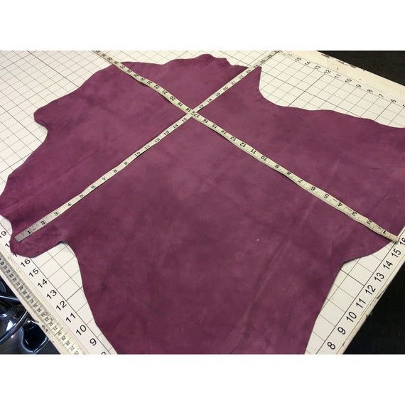 PURPLE suede Genuine sheep sheets Velour leather pieces NIGHTSHADE 506 2.25 oz