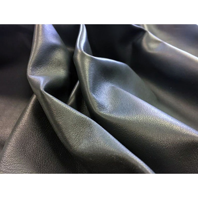 2.75 oz Real leather sheets Sheep skin fabric Gray leather pieces GRAY leather material Shiny lambskin leather Thick skin CASTLEROCK 586