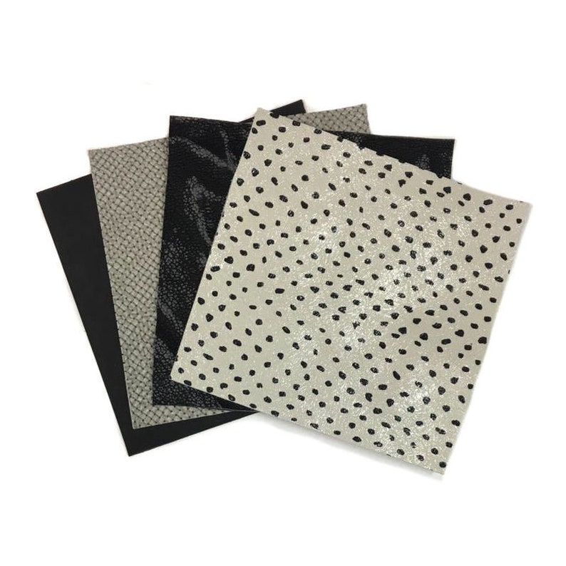 BLACK perforation hides Genuine Leather Sheep skin sheets  DISPLAY PANEL 2.5 oz