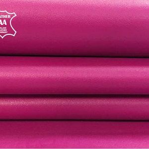 PINK leather fabric pink leather hide genuine lambskin leather hide bright pink leather pieces LILAC CHIFFON real animal skin 0.9 mm 578
