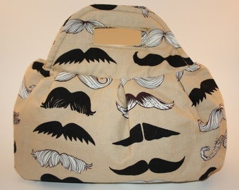 Moustache Pleated Handbag