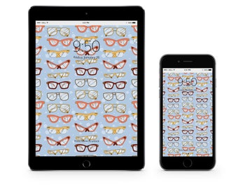 Glasses - Instant Digital Download Device Wallpaper Background
