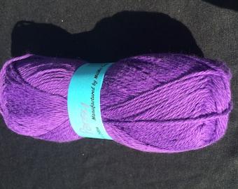 100% Cotton Sock Yarn in Purple Pansy