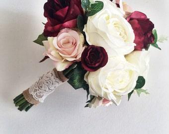 Silk wedding flowers Etsy