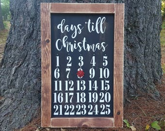 christmas countdown sign days till christmas sign farmhouse style christmas sign rustic christmas decor advent christmas calendar - Countdown Till Christmas Decoration