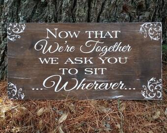 wedding seating sign etsy