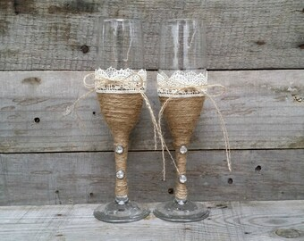 Wedding Champagne Flutes, Bride and Groom Glasses, Champagne Glasses, Wedding Flutes, Toasting Glasses, Wedding Gift, Toasting Flutes