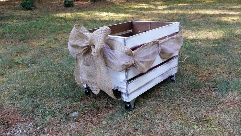 Rustic Wedding Wooden Wagon Flower Girl Wedding Wagon Rustic Wedding Decor Newborn Photo Prop Wagon Flower Girl Carriage