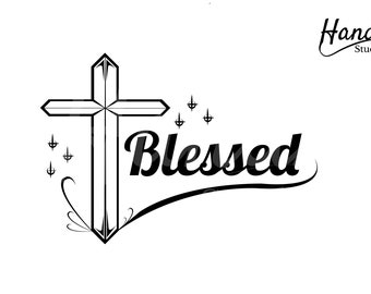 Blessed Digital SVG File Package Instant Download