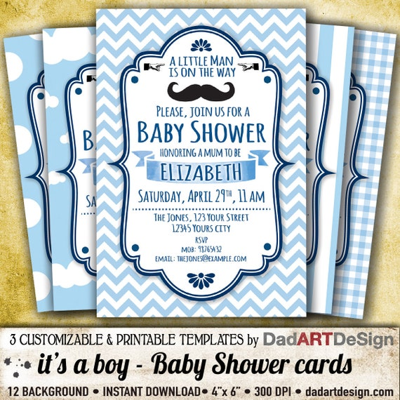 It S A Boy Baby Shower Invitation Card Easy To Customize