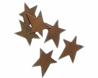 """Rusty Tin Folk Art Stars, 1 1/4"""", 6/pkg"""