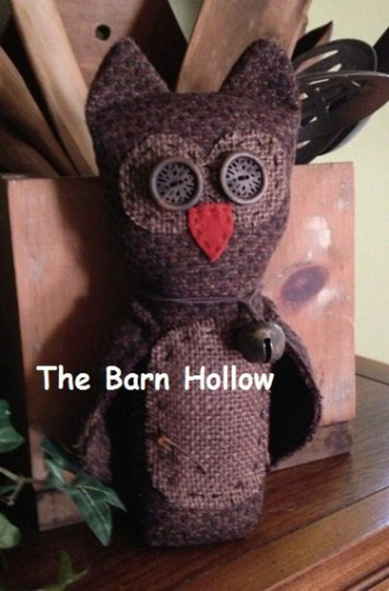 Primitive Owl Sewing Pattern The Barn Hollow OLIVER the | Etsy