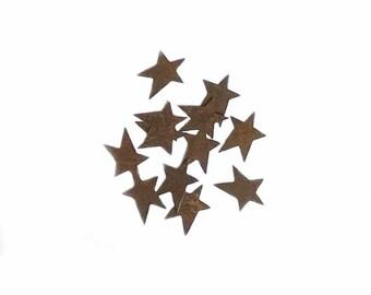 """Rusty Tin Folk Art Stars, 1"""", 12/pkg"""