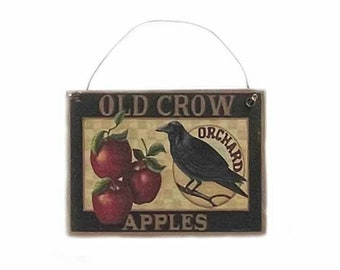 Old Crow Apples Hanging Sign